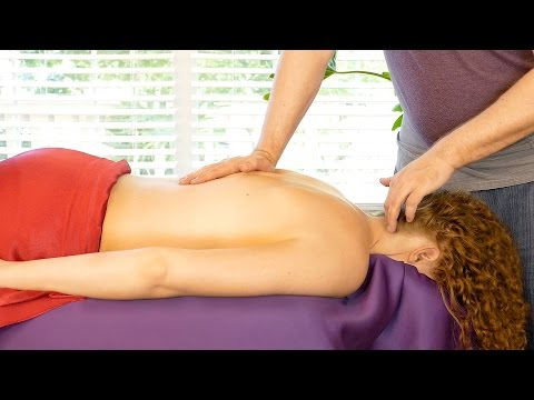 Best Back Massage Therapy Techniques, ASMR Voice w/ Relaxing Music