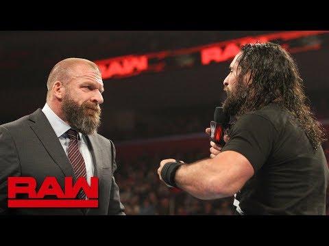 Triple H questions Seth Rollins' drive: Raw, Dec. 31, 2018
