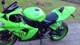 7. Kawasaki Ninja ZX-10R 2005 sound with leovince carbon exhaust monster energy
