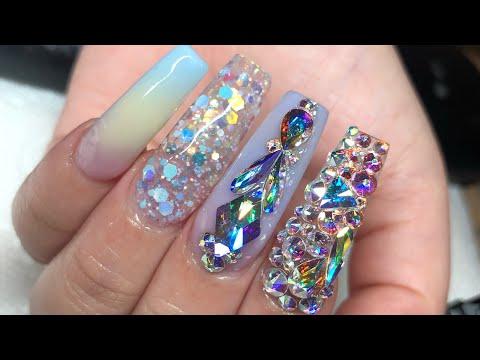 Pastel marble acrylic nails  Glitterbel's acrylic