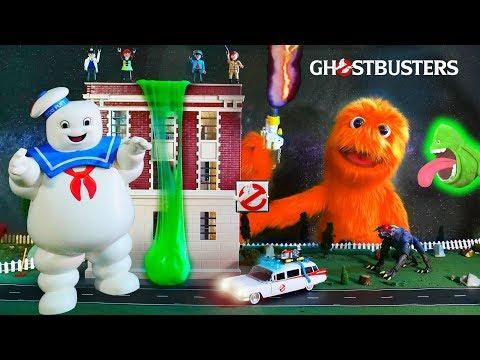 Giocattoli di melma verde! 👻👻 Divertimento fantasma Giocattoli recensione per bambini!