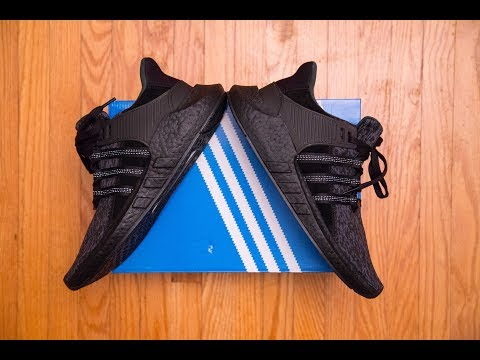 The First Black Boost Of This Model || Adidas Equipment 'eqt' Support 93/17 Triple Black Review