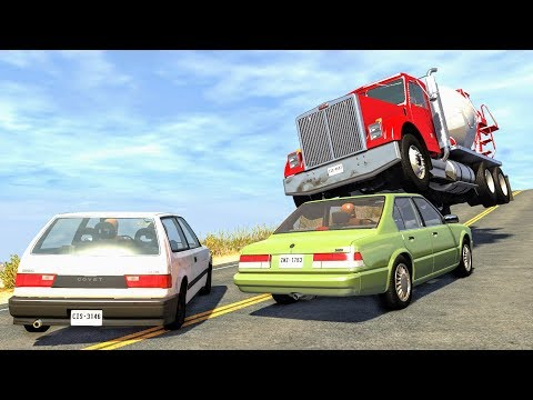 Lucky Guys #6 - BeamNG Drive Crashes, Fails, Near Misses, Funny Moments | CrashBoomPunk