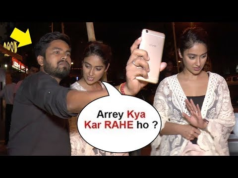 Video Ileana D'Cruz Gets ANGRY On A Fan For Touching While Taking Selfie download in MP3, 3GP, MP4, WEBM, AVI, FLV January 2017