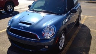 2009 Mini Cooper S 6MT Start Up, Quick Tour,&Rev With Exhaust View - 32K