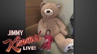 Video Jimmy Kimmel's Giant Stuffed Bear Revenge MP3, 3GP, MP4, WEBM, AVI, FLV Maret 2018