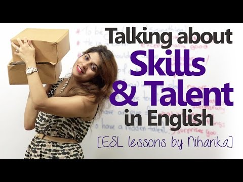 Download Talking about skills and Talent in English –( Spoken English lessons to learn English phrases) HD Mp4 3GP Video and MP3