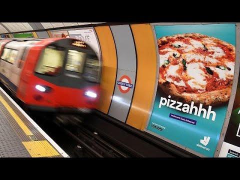 London: Keine Pizza-Werbung mehr in der Tube