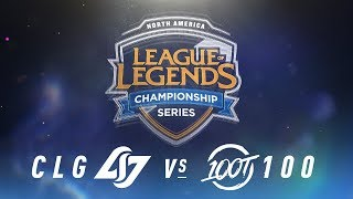 Video CLG vs. 100 - Week 1 Day 2 | NA LCS Spring Split | Counter Logic Gaming  vs. 100 Thieves (2018) MP3, 3GP, MP4, WEBM, AVI, FLV Juni 2018