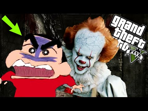 GTA 5 : SHINCHAN Found PENNYWISE in SEWER | GTA 5 PENNYWISE