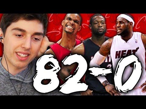 82-0 CHALLENGE - 2012 MIAMI HEAT WITH LEBRON JAMES! NBA 2K16 MY LEAGUE