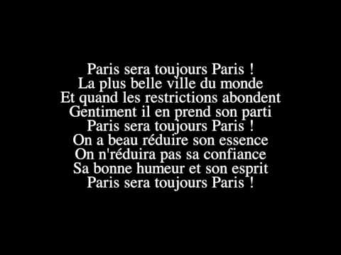 Zaz   Paris sera toujours Paris   (LYRICS / PAROLES )