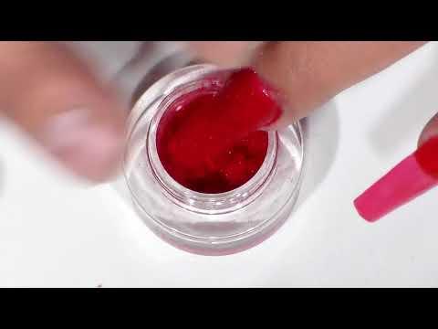 uñas acrilicas efecto terciopelo + rosgold