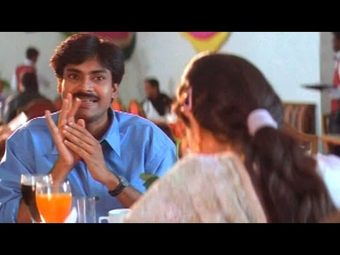 Pawan Kalyan Birthday Special  Vennela Comedy Scene In Hotel  Amisha Patel Renu Desai
