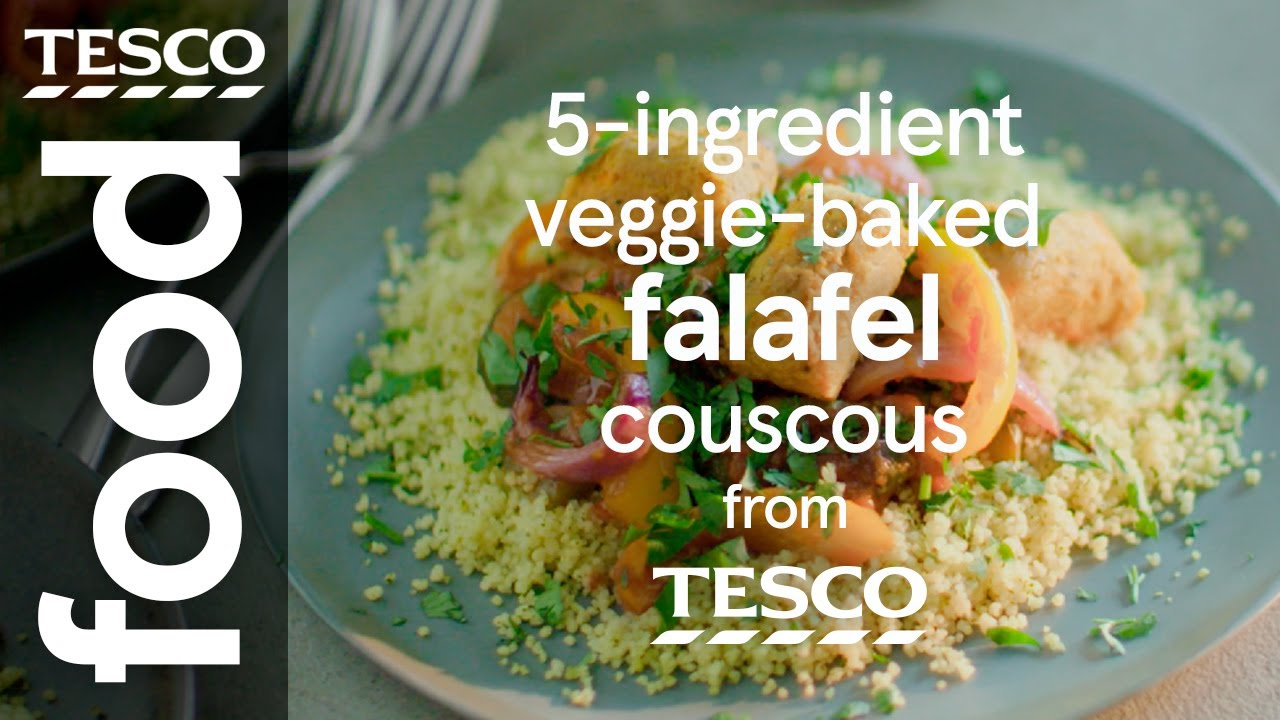 5-ingredient – Baked falafel in spicy tomato sauce