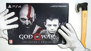 GOD OF WAR COLLECTOR'S EDITION UNBOXING! Limited Stone Mason Edition GoW 2018 Gameplay