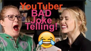 YouTuber Bad Joke Telling! Try Not To Laugh Challenge!