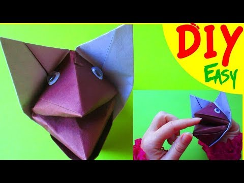DIY Origami DOG Tutorial. How To Make A Paper DOG Face 3D For Kids Easy