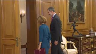 S.M. el Rey recibe a la  presidenta del Congreso de los Diputados, Meritxell Batet