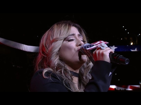 HD Ally Brooke of Fifth Harmony Singing the National Anthem at the San Antonio Spurs Playoff Game 5