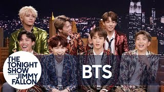 Video Jimmy Interviews the Biggest Boy Band on the Planet BTS MP3, 3GP, MP4, WEBM, AVI, FLV April 2019