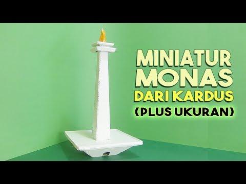 Cara Membuat Miniatur Monas Dari Kardus Lengkap Dengan Ukuran