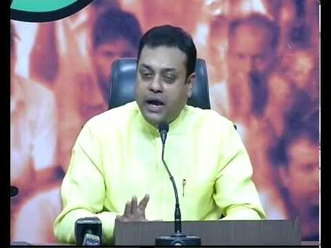 Press Conference by Dr. Sambit Patra at BJP HQ : 14.06.2016