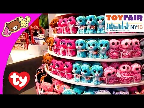 Ty Beanie Babies, Beanie Boos, Peek-a-boos, And More Cute Plush Toys At New York Toy Fair 2016!