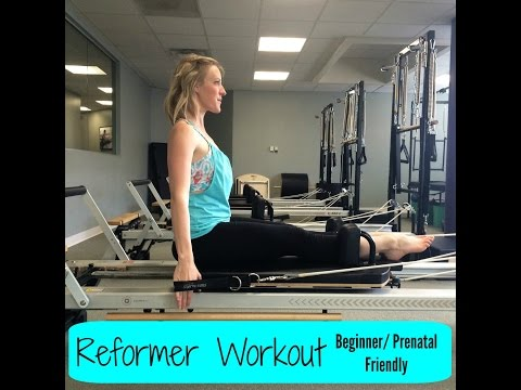 Pilates Reformer Workout (beginner/prenatal friendly)