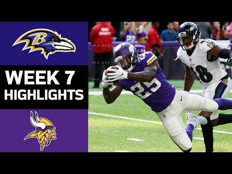 Ravens vs. Vikings | NFL Week 7 Game Highlights (видео)