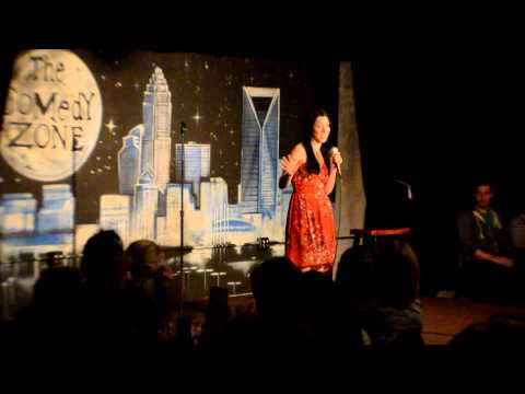 Malinda Cvitkovic on 3-4-13 on Graduation Showcase Night for The Comedy Zone Comedy School