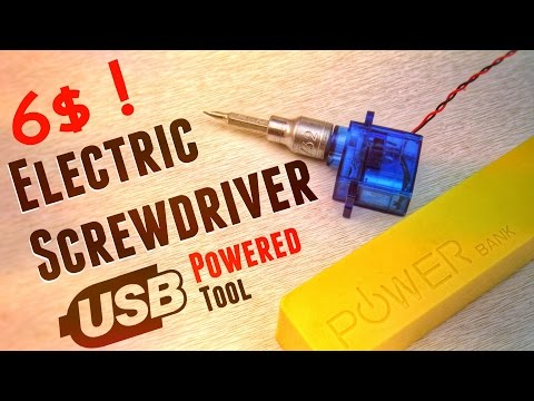 🛠 Mini Electric Screwdriver : How to make a Power Tool for your daily need