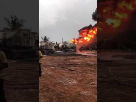 VIDEO:Ashaiman gas explosion at Tanker Yard
