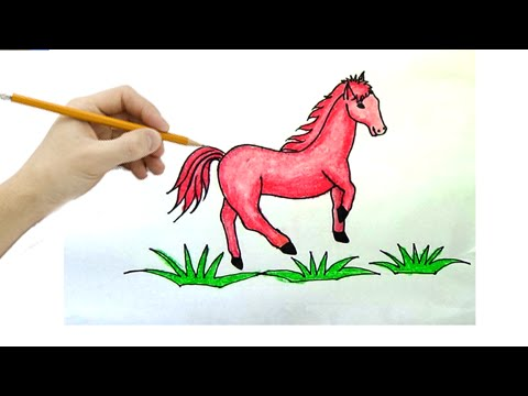 Cách Vẽ Tranh Con Ngựa - (How To Draw The Horse)