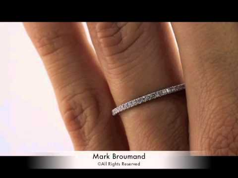 0.50ct Round Brilliant Cut Diamond Wedding Band-Mark Broumand