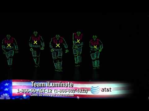 Team iLuminate On America's Got Talent (8/2)