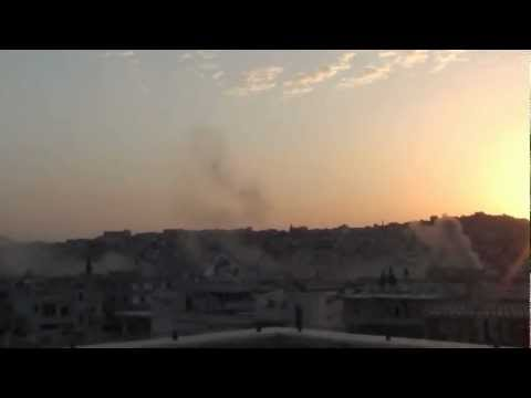 Video shows the shelling of rebel-held Rastan