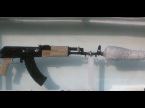 Slow Motion of an AK-47 Underwater (Part 1) – Smarter Every Day 95