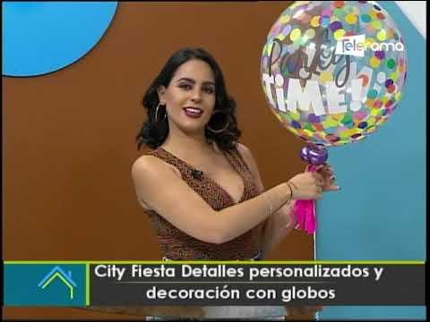 City Fiesta Detalles personalizados y decoración con globos