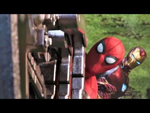 Spiderman And Ironman All Fight Scene (HD)   Avengers Infinity War Movie Scenes  