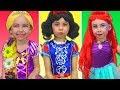 Costumes Disney Princesses Kids Makeup Rapunzel, Snow White, Little Mermaid & Real Princess Dresses