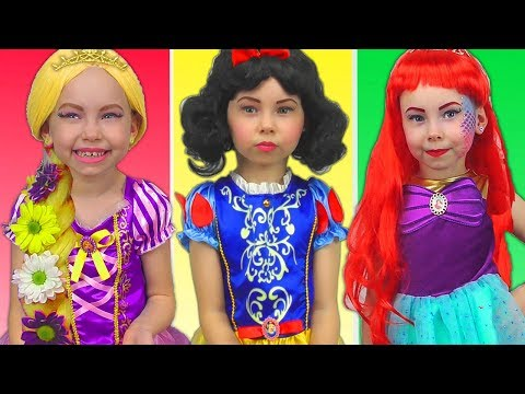 Costumes Disney Princesses Kids Makeup Rapunzel, Snow White, Little Mermaid & Real Princess Dresses