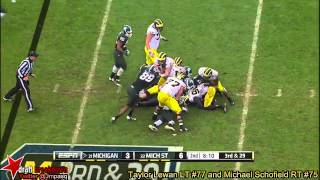 Taylor Lewan vs Michigan State (2013)