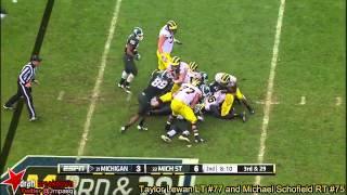 Michael Schofield vs Michigan State (2013)