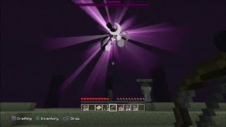 If anyone needs the two end trophies, add me on PSN: yu_mum and I will invite you to my world and you can get both of these trophies even though the dragon is already dead. How to kill the Ender Dragon on Minecraft Playstation 3 Edition. I used a bow with the Infinity I & Power III enchantments which allowed me to have an infinite amount of arrows.