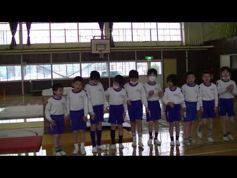 跳び箱発表−掛川市立大坂小学校2年生心の鐘発表会