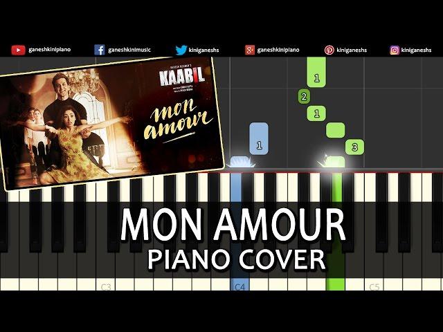 Mon Amour Kaabil Hindi Song Piano Chords Tutorial Lesson Instrumental Karaoke By Ganesh Kini ...