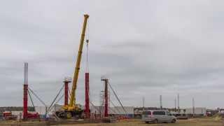 Time-Lapse - Widok na budowę nowego Terminala (23.10.2014)
