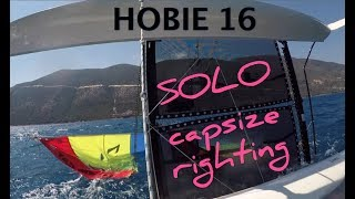 Video HOBIE 16 capsize righting SOLO   is it possible? MP3, 3GP, MP4, WEBM, AVI, FLV Agustus 2019