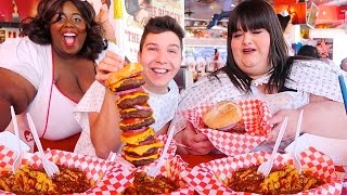 Video Heart Attack Grill With Hungry Fat Chick • MUKBANG MP3, 3GP, MP4, WEBM, AVI, FLV Juni 2018